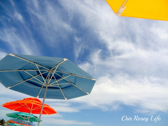 Cruise Beach Umbrella Sky