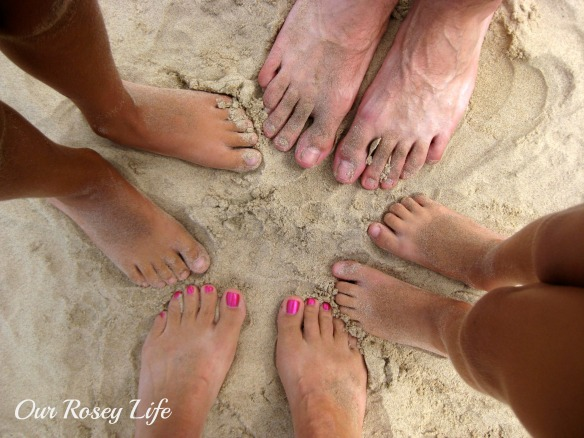 Our Beach Feet